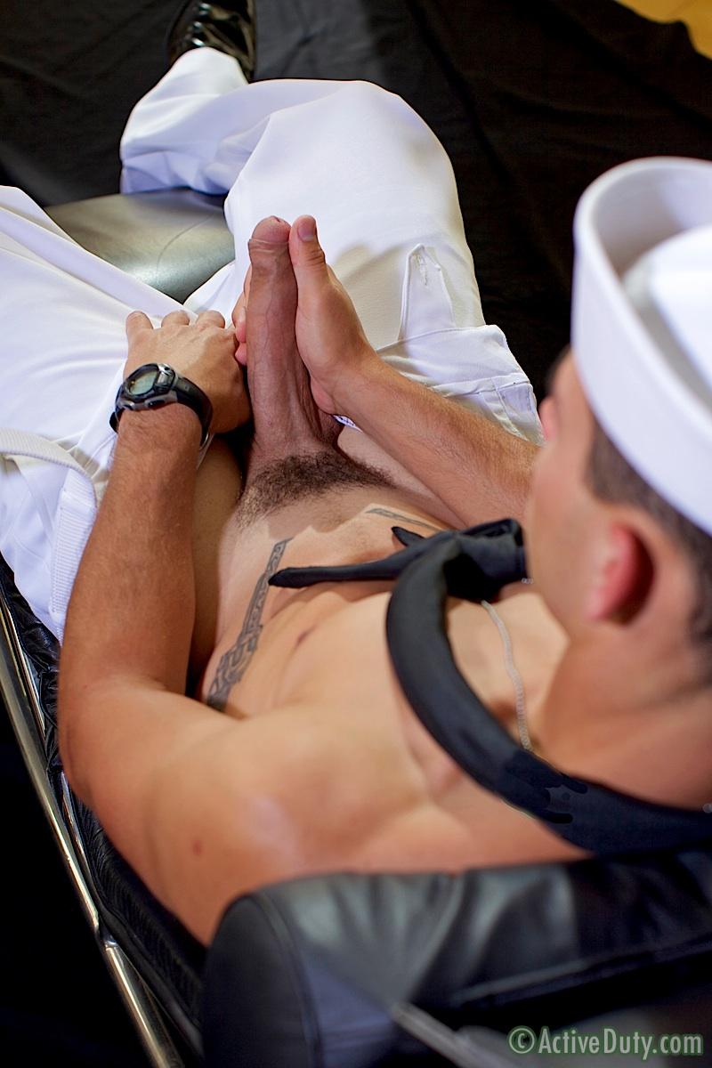 ActiveDuty Bric Sailor Jerking His Big Uncut Cock Masturbation Amateur Gay Porn 07