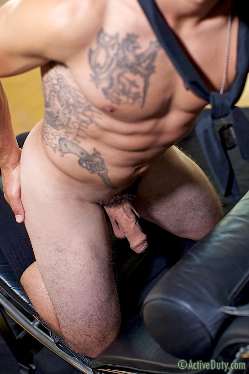 ActiveDuty Bric Sailor Jerking His Big Uncut Cock Masturbation Amateur Gay Porn 20