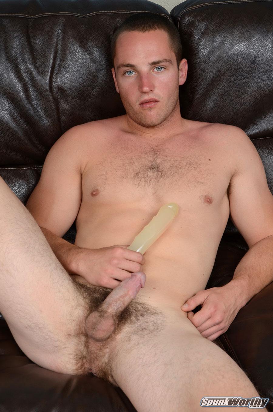 SpunkWorthy Dean Straight Marine Uses A Dildo On Hairy Ass Amateur Gay Porn 03