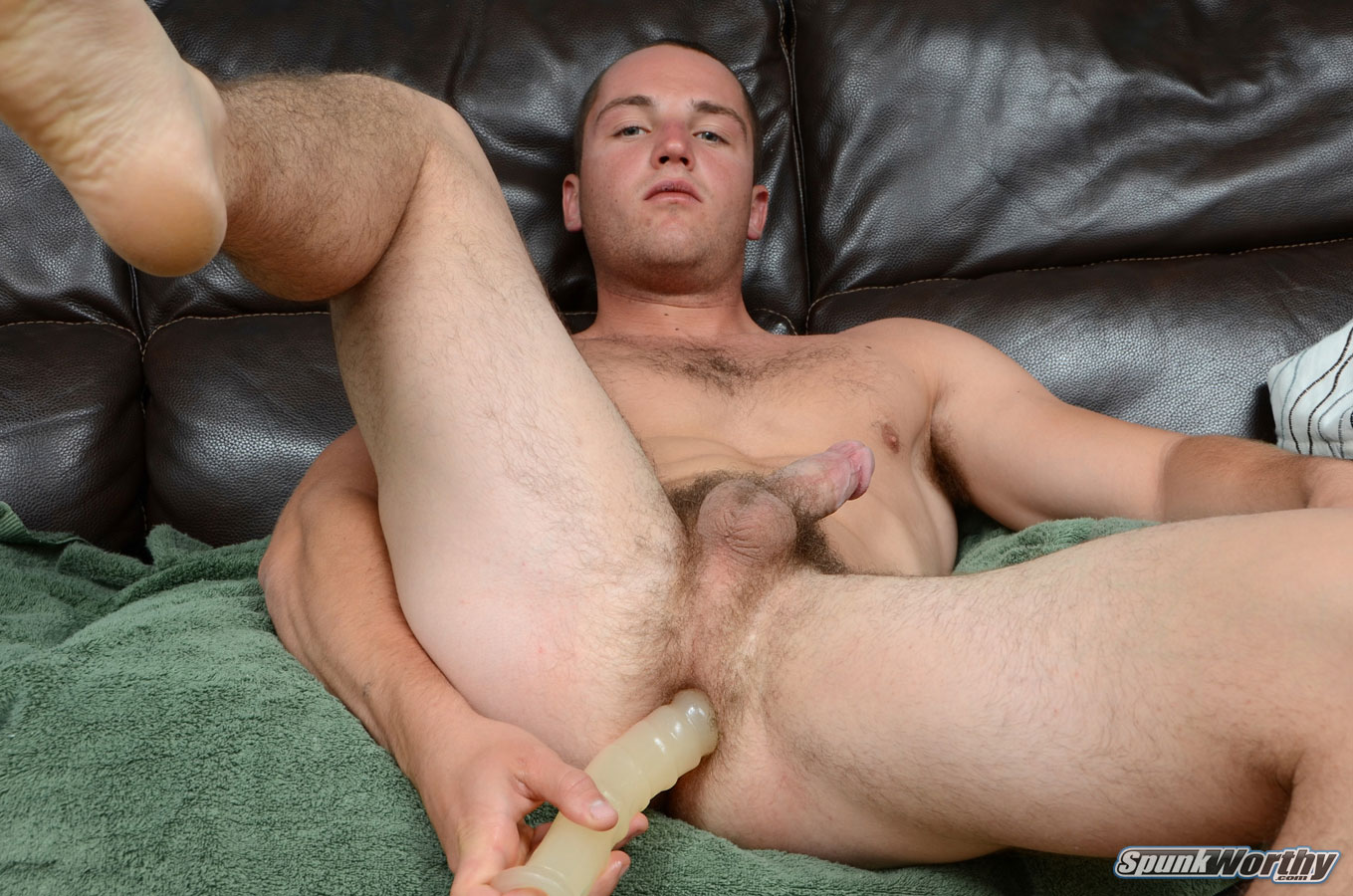 SpunkWorthy Dean Straight Marine Uses A Dildo On Hairy Ass Amateur Gay Porn 05