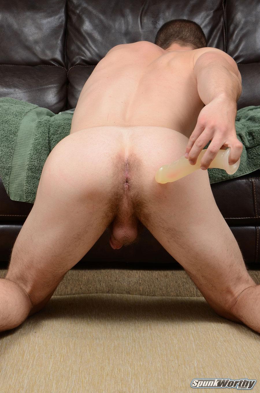 SpunkWorthy Dean Straight Marine Uses A Dildo On Hairy Ass Amateur Gay Porn 09