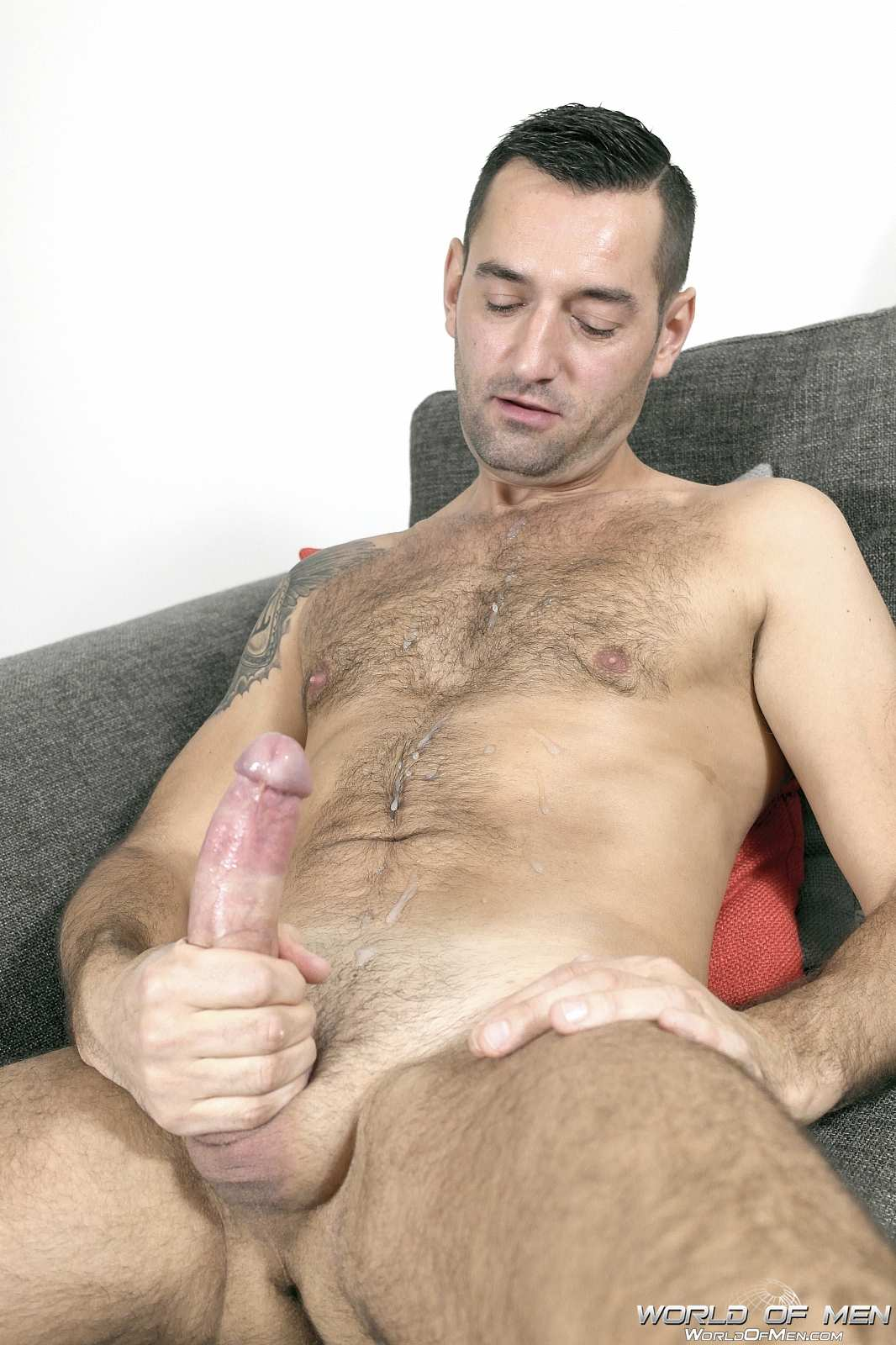 World Of Men Chris A'Dam Big Uncut Cock Jerk Off Masturbation  Amateur Gay Porn 14