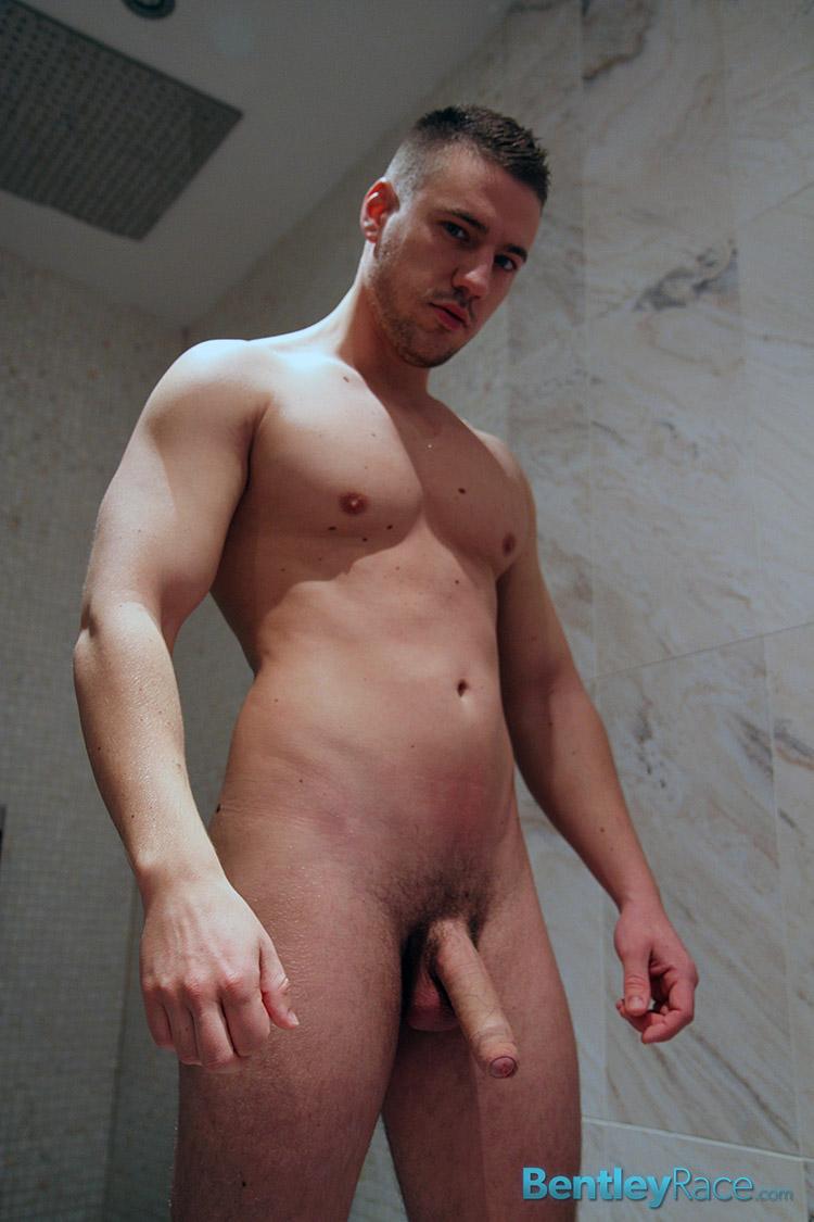 Bentley Race Jeffry Branson Big Thick Uncut Cock Masturbating Shower Amateur Gay Porn 11