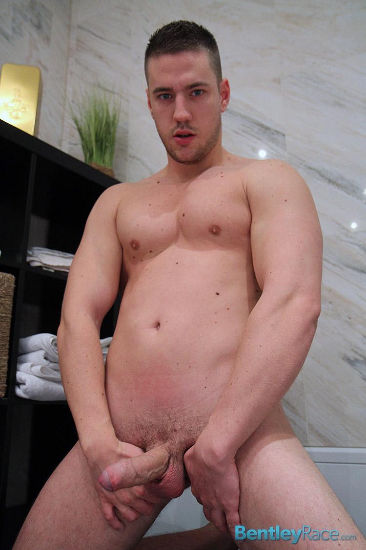 Bentley Race Jeffry Branson Big Thick Uncut Cock Masturbating Shower Amateur Gay Porn 13