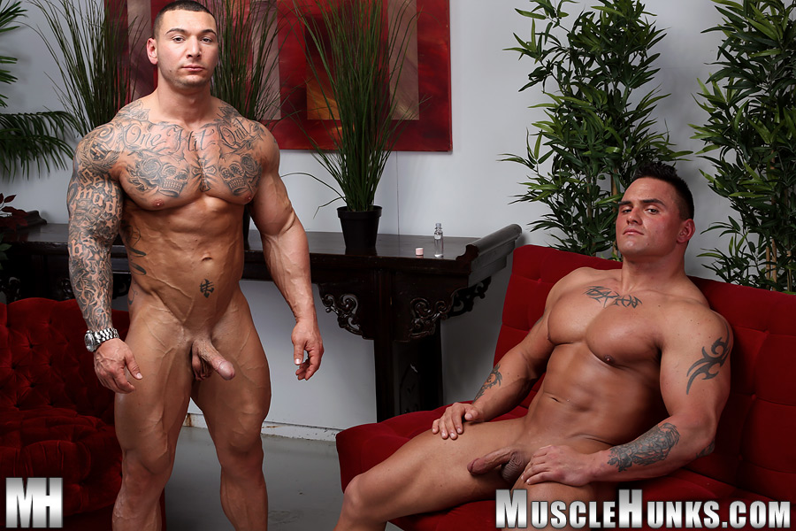 Muscle Hunks Jackson Gunn and Caleb del Gatto Amateur Wrestle In Jock Straps and Jerk Off Amateur Gay Porn 13