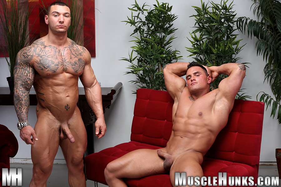 Muscle Hunks Jackson Gunn and Caleb del Gatto Amateur Wrestle In Jock Straps and Jerk Off Amateur Gay Porn 15