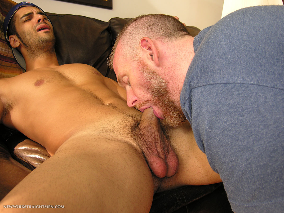 New York Straight Men Ryder and Sean Straight Guy Getting Cock Sucked By Gay Guy Amateur Gay Porn 11