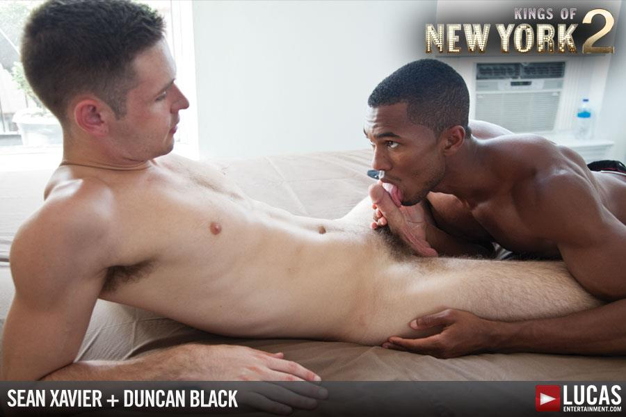 Lucas Entertainment Kings Of New York Season 2 Sean Sean Xavier and Duncan Black Interracial Fucking Big Black Cock Amateur Gay Porn 03