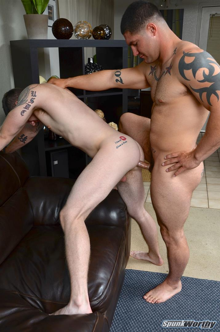 SpunkWorthy Nicholas and Scotty Beefy Muscle Straight Marine Fucks First Man Ass Amateur Gay Porn 10