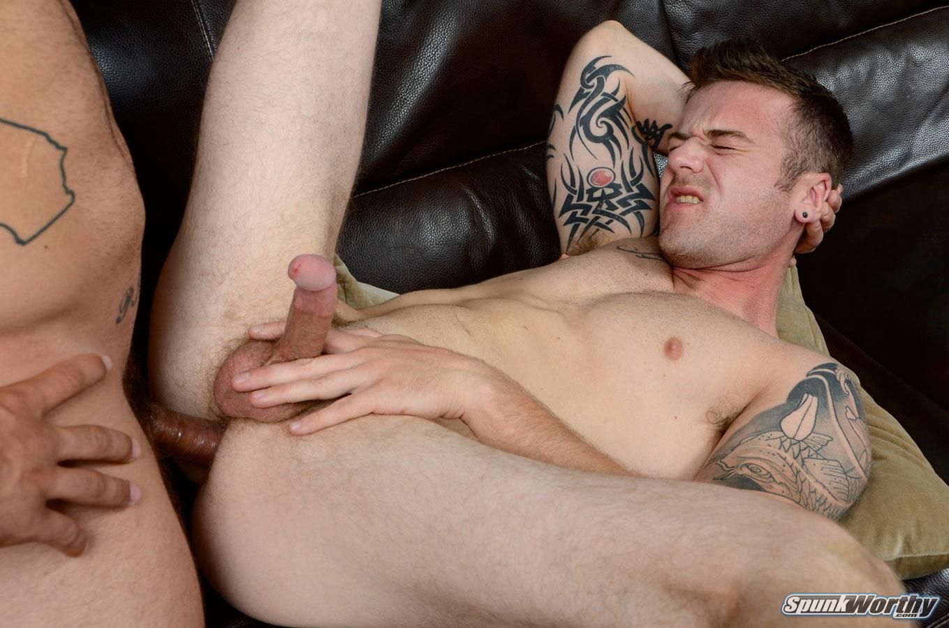 SpunkWorthy Nicholas and Scotty Beefy Muscle Straight Marine Fucks First Man Ass Amateur Gay Porn 16