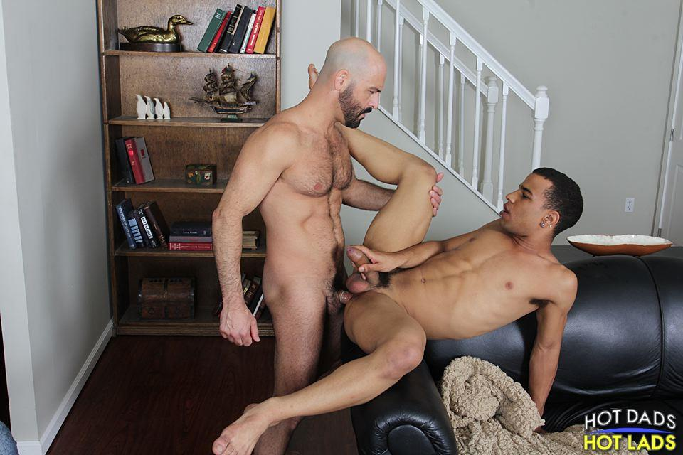 Hot Dads Hot Lads Adam Russo and Trelino Hairy Muscle Daddy Fucks A Young Black Ass Amateur Gay Porn 17