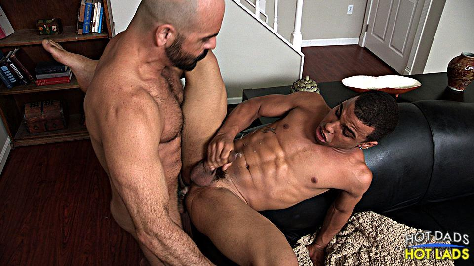 Hot Dads Hot Lads Adam Russo and Trelino Hairy Muscle Daddy Fucks A Young Black Ass Amateur Gay Porn 18
