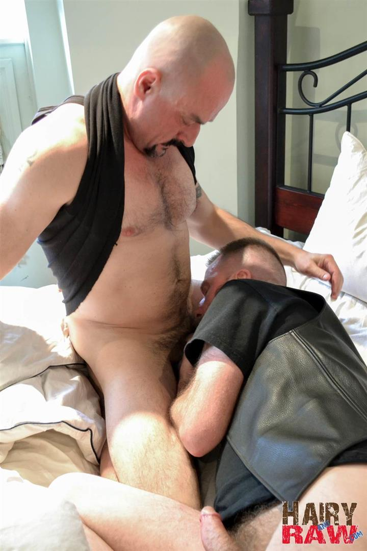 Hairy and Raw Troy Collins and CanaDad Masculine Hairy Daddies Fucking Bareback Amateur Gay Porn 08