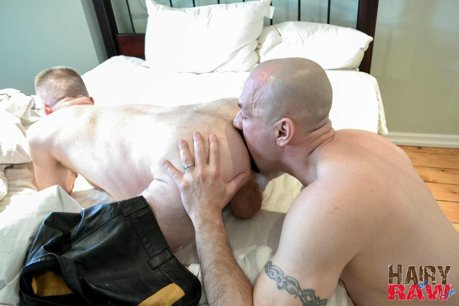 Hairy and Raw Troy Collins and CanaDad Masculine Hairy Daddies Fucking Bareback Amateur Gay Porn 11