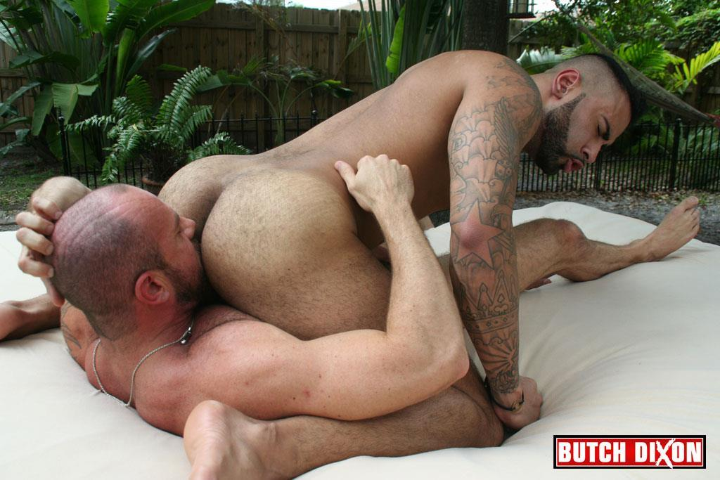 Butch Dixon Rikk York and Matt Stevens Hairy Daddy and Younger Guy Trade Blow Jobs Amateur Gay Porn 22