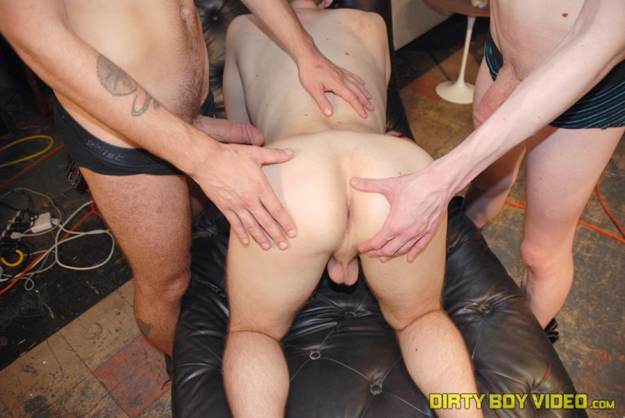 Dirty Boy Video Damian and Brayden and Scott Big Cock Twinks Fucking In A Warehouse Amateur Gay Porn 06