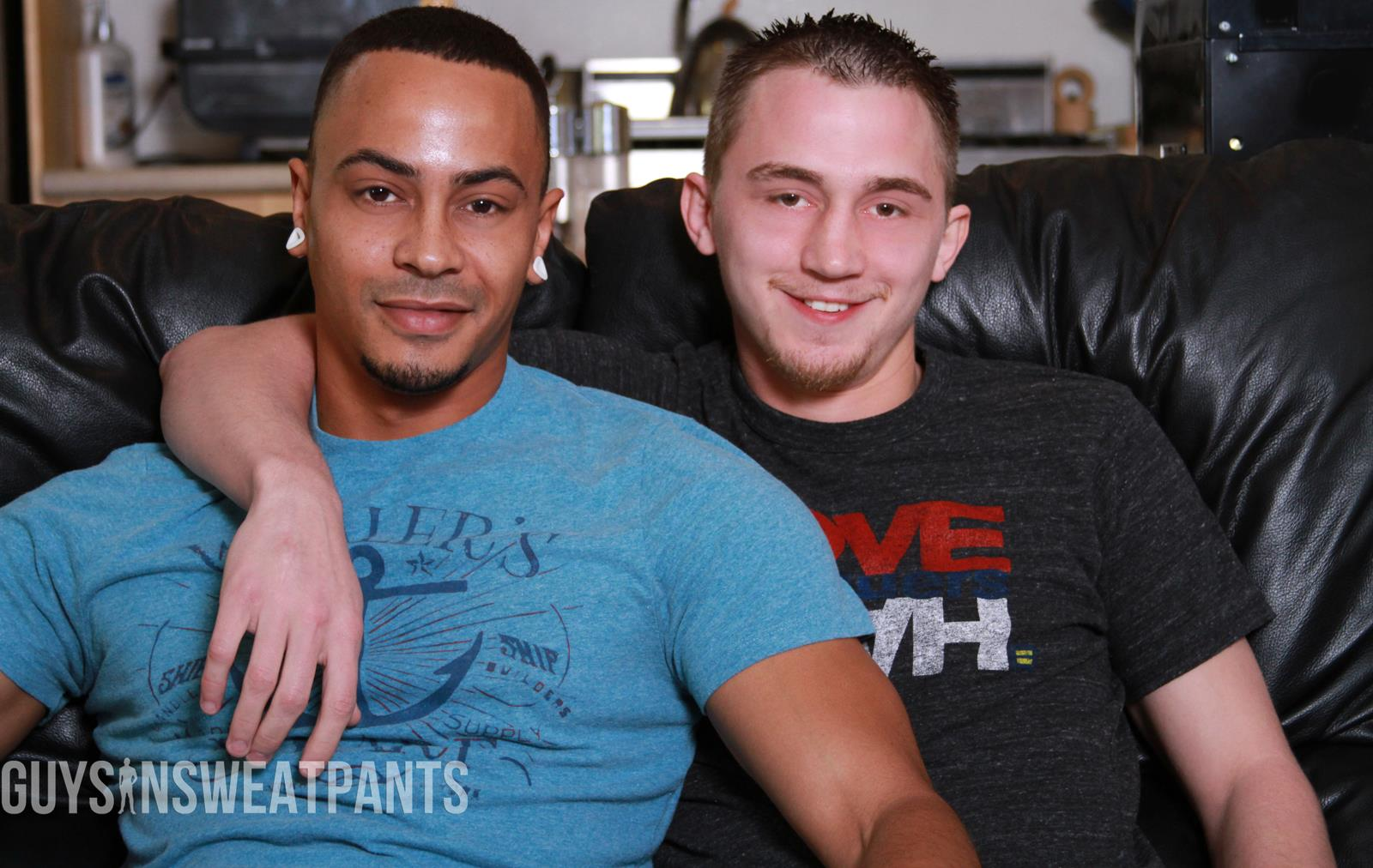 Guys In Sweatpants Ezekiel Stone and Dillon Hays Interracial bareback fucking Amateur Gay Porn 13
