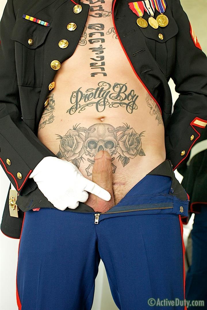ActiveDuty Marine Quinn Straight Marine Jerking Off Thick Cock Amateur Gay Porn 05