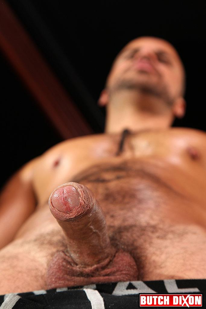 Butch Dixon Delta Kobra Muscle Hunk With A Big Uncut Cock Jerking Off Amateur Gay Porn 07