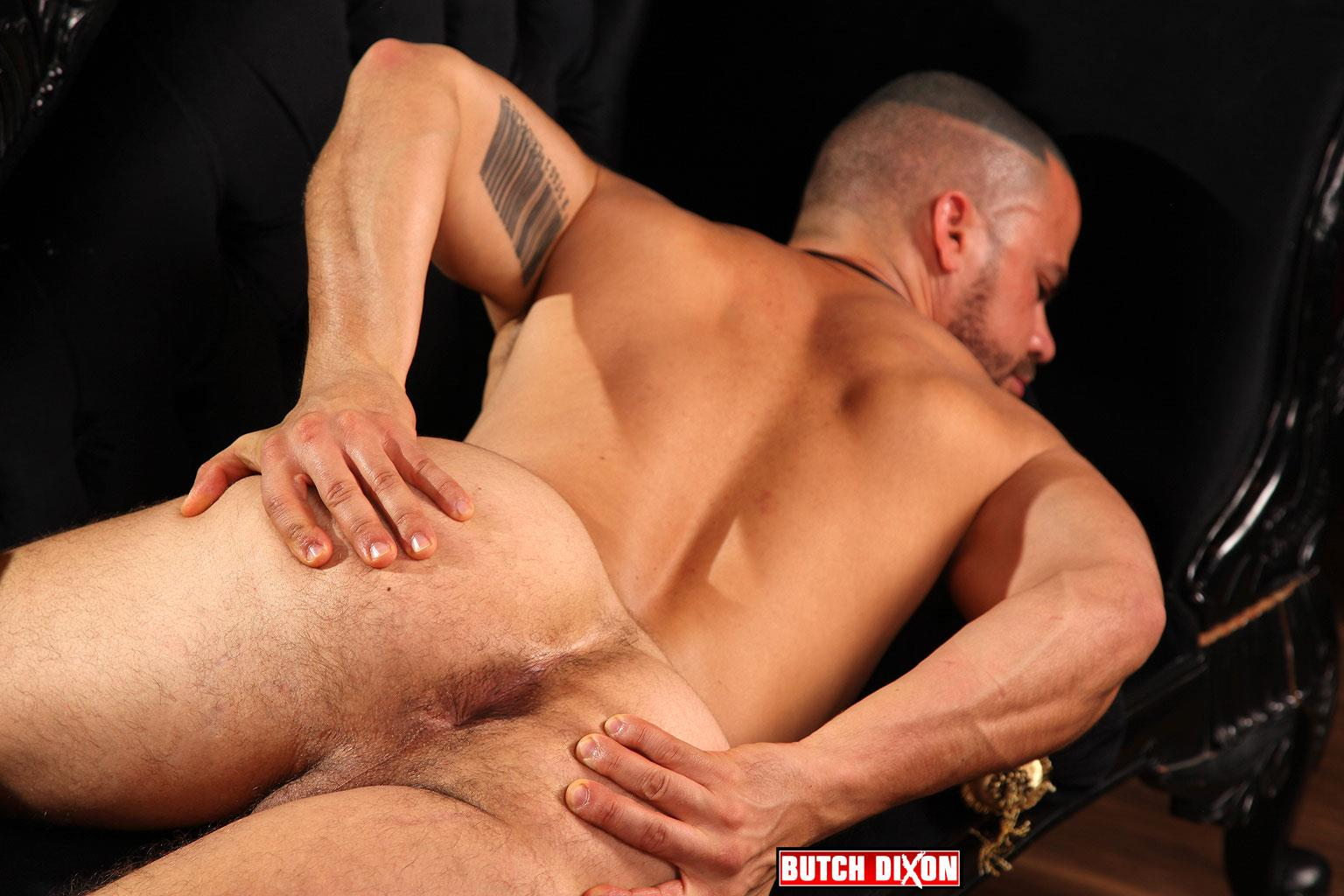 Butch Dixon Delta Kobra Muscle Hunk With A Big Uncut Cock Jerking Off Amateur Gay Porn 15
