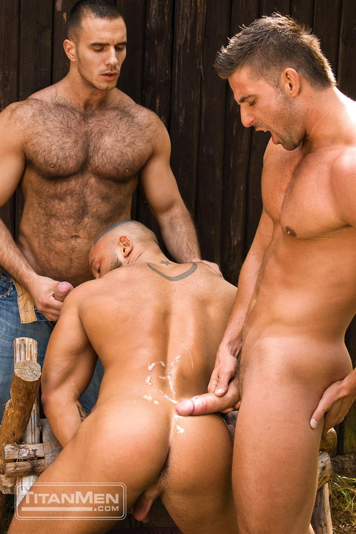 TitanMen Cum Shots from Hairy Muscle Hunks Amateur Gay Porn 4