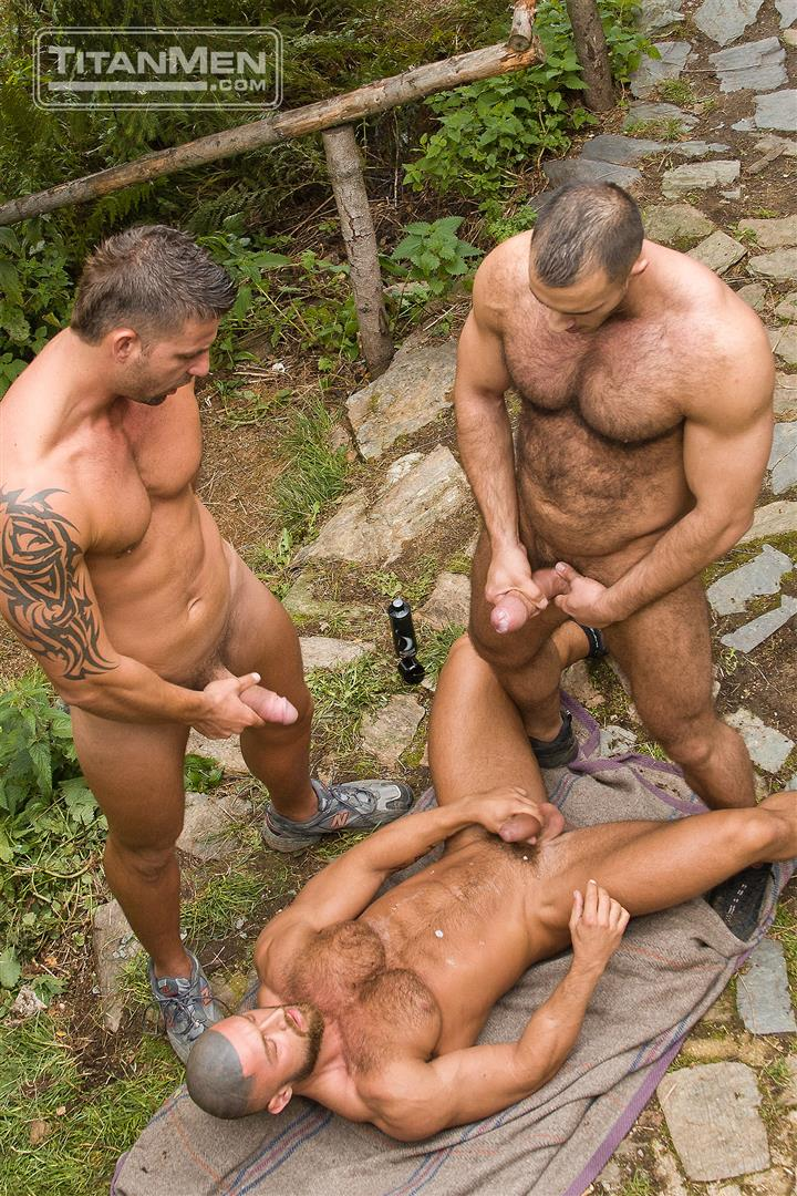 TitanMen Cum Shots from Hairy Muscle Hunks Amateur Gay Porn 5