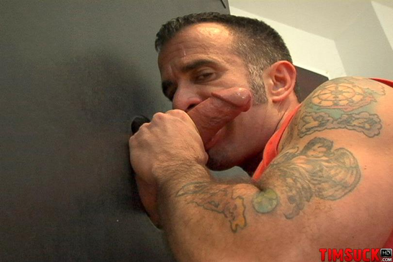 Treasure Island Media TIMSuck Tony Romano Eating Cum Sucking Cock At The Gloryhole Amateur Gay Porn 3