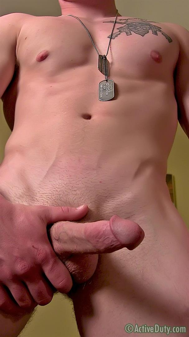 ActiveDuty Orion Ripped Army Guy Jerking His Big Cock Amateur Gay Porn 13