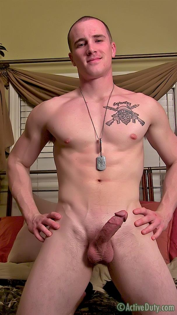 ActiveDuty Orion Ripped Army Guy Jerking His Big Cock Amateur Gay Porn 16