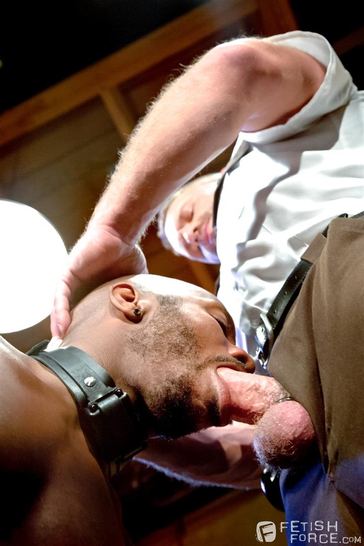 Fetish Force Race Cooper and Dirk Caber Black Guy Forced To Suck White Cock Amateur Gay Porn 14