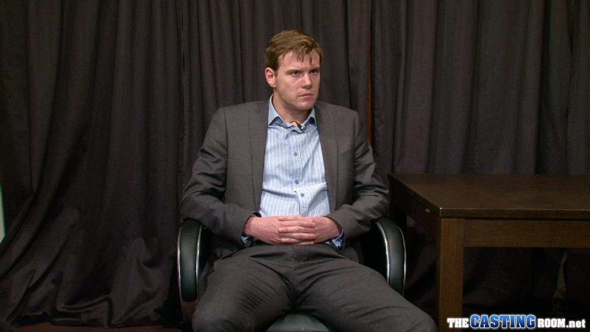 The Casting Room Robin Hairy Guy In Suit Jerking Off His Uncut Cock Amateur Gay Porn 01
