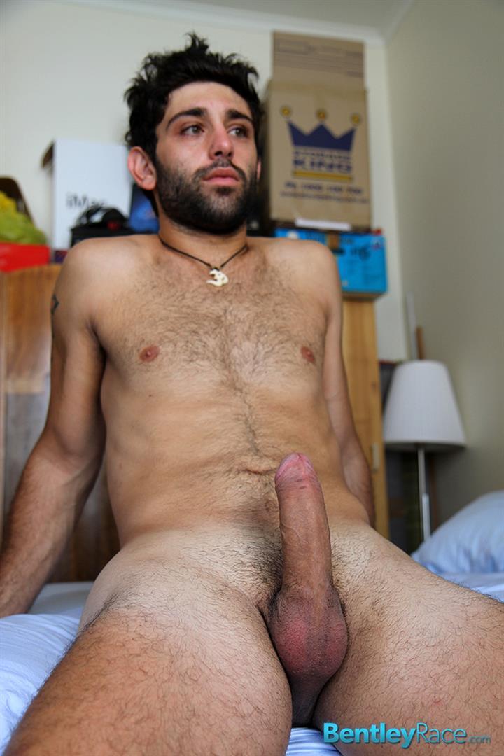 Bentley Race Adam El Shawar Middle Eastern Hunk Strokes His Big Uncut Cock Arab Amateur Gay Porn 16
