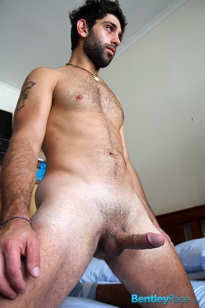 Bentley Race Adam El Shawar Middle Eastern Hunk Strokes His Big Uncut Cock Arab Amateur Gay Porn 17