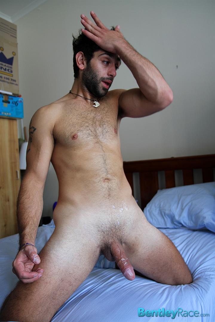 Bentley Race Adam El Shawar Middle Eastern Hunk Strokes His Big Uncut Cock Arab Amateur Gay Porn 19