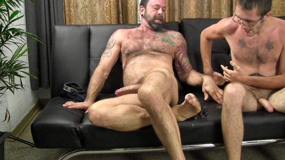 Straight Fraternity Reese Straight Young Guy Barebacking a Hairy Muscle Daddy Amateur Gay Porn 27