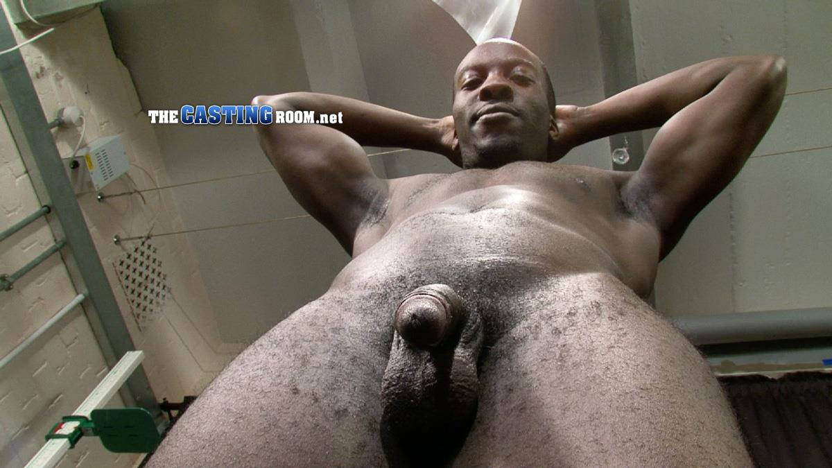 The Casting Room Troy Straight Black Guy Jerking His Big Black Uncut Cock Amateur Gay Porn 09