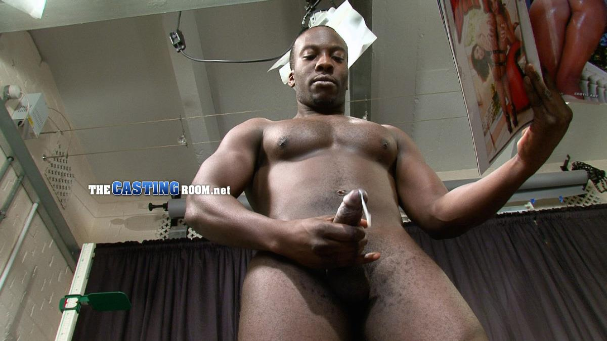 The Casting Room Troy Straight Black Guy Jerking His Big Black Uncut Cock Amateur Gay Porn 17