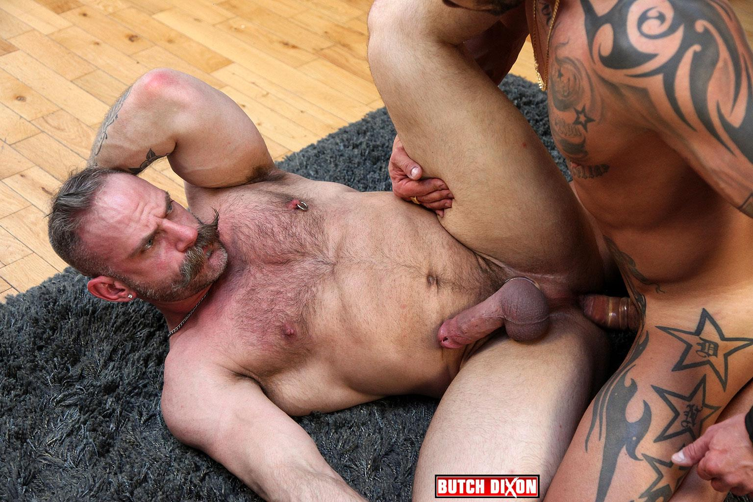Butch Dixon Samuel Colt and Frank Valencia Hairy Muscle Daddy Getting Fucked By Latino Cock Amateur Gay Porn 12
