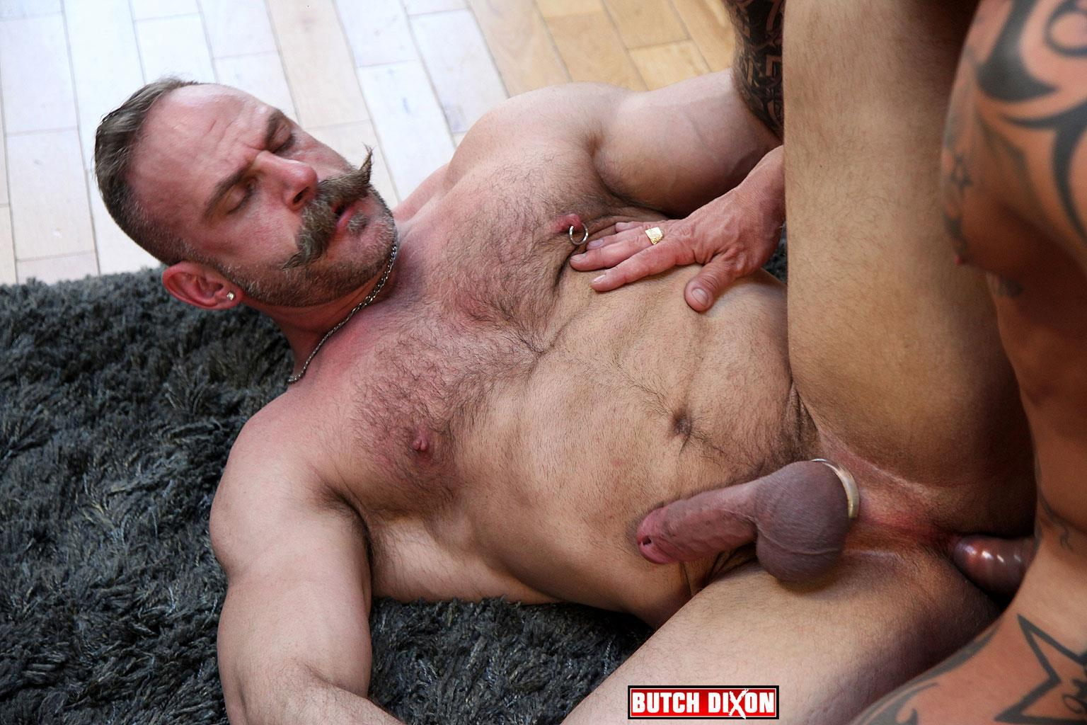 Butch Dixon Samuel Colt and Frank Valencia Hairy Muscle Daddy Getting Fucked By Latino Cock Amateur Gay Porn 13