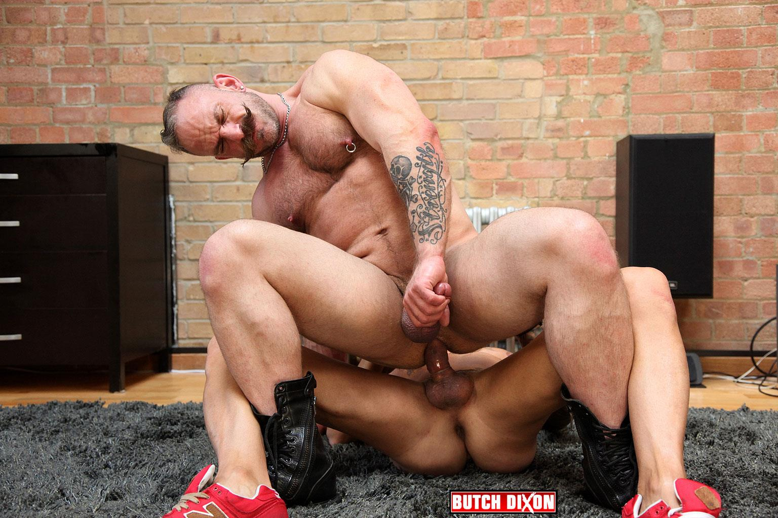 Butch Dixon Samuel Colt and Frank Valencia Hairy Muscle Daddy Getting Fucked By Latino Cock Amateur Gay Porn 15