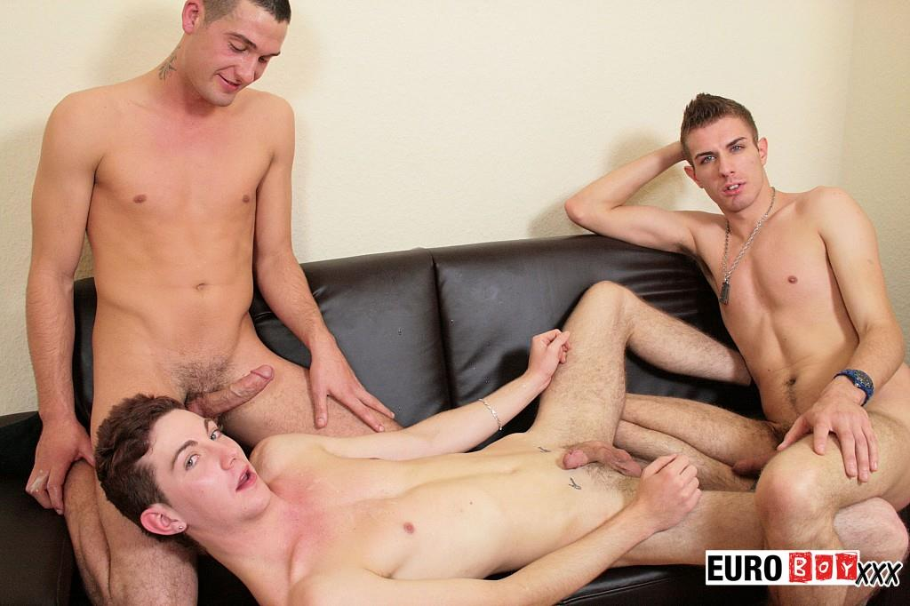 Euroboy XXX Threeway Twink Virgins With Big Uncut Cocks Fucking Amateur Gay Porn 22