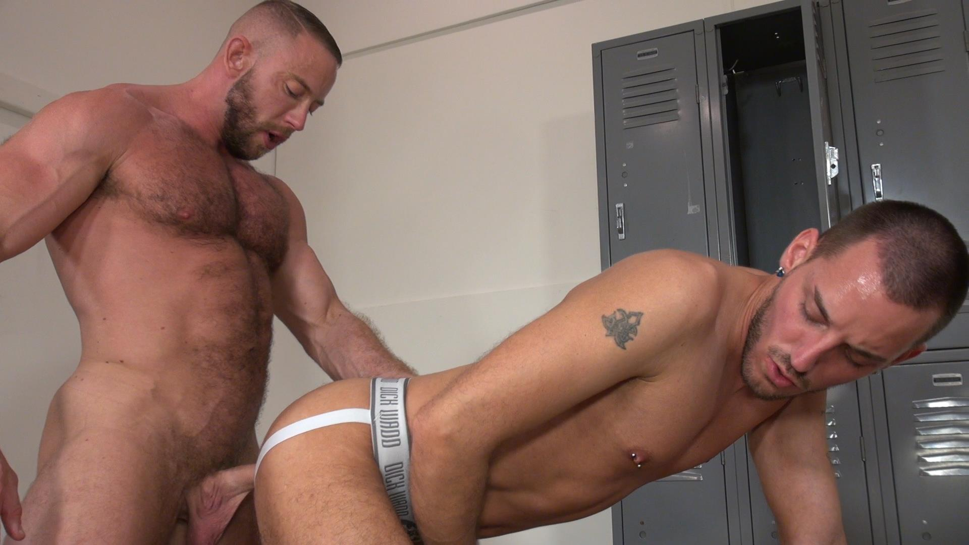 Raw and Rough Gio Ryder and Shay Michaels and Parker Jock Gets barebacked by two muscle daddy Amateur Gay Porn 01