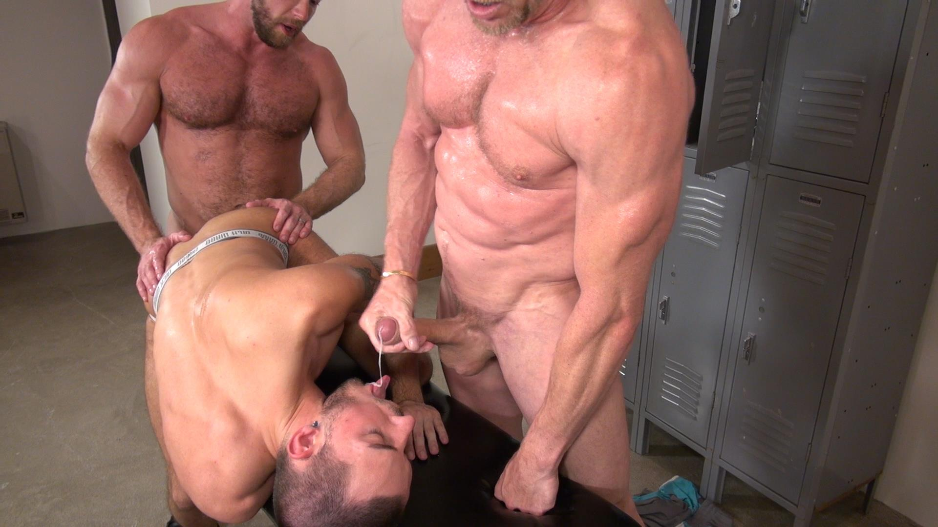 Raw and Rough Gio Ryder and Shay Michaels and Parker Jock Gets barebacked by two muscle daddy Amateur Gay Porn 07