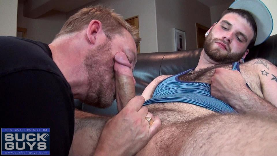 Suck Off Guys Tyler Beck and Aaron French Young Hairy Beefy Guy With A Thick Hairy Cock Amateur Gay Porn 20