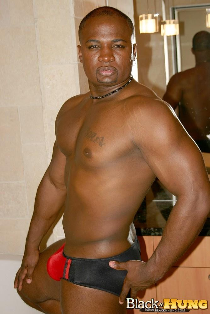Black N Hung D Total Package Black Muscle Thug Jerking His Thick Black Cock Amateur Gay Porn 09