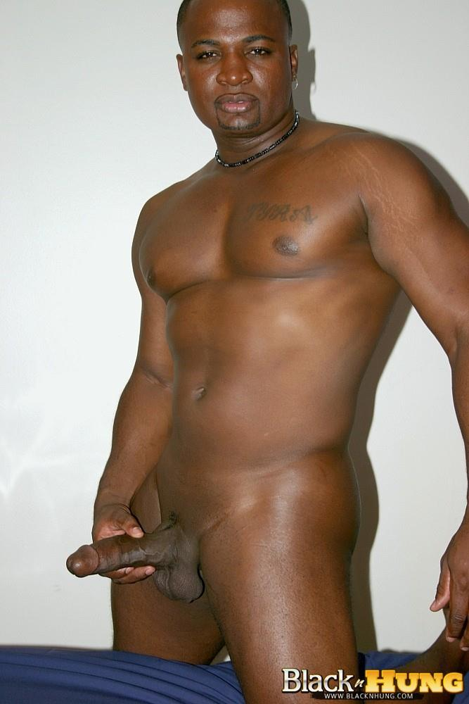 Black N Hung D Total Package Black Muscle Thug Jerking His Thick Black Cock Amateur Gay Porn 12