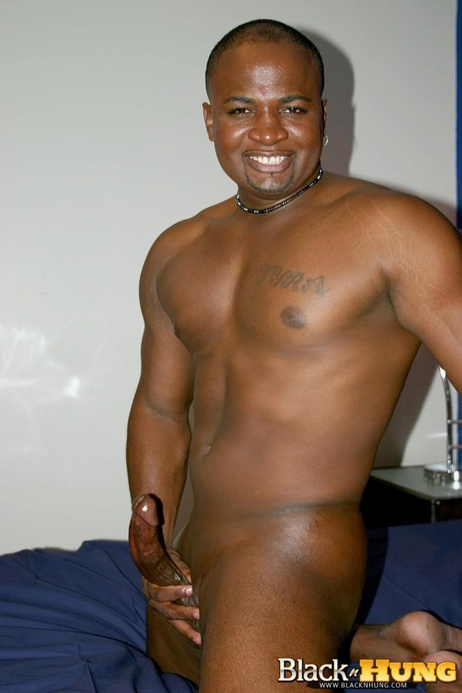 Black N Hung D Total Package Black Muscle Thug Jerking His Thick Black Cock Amateur Gay Porn 14