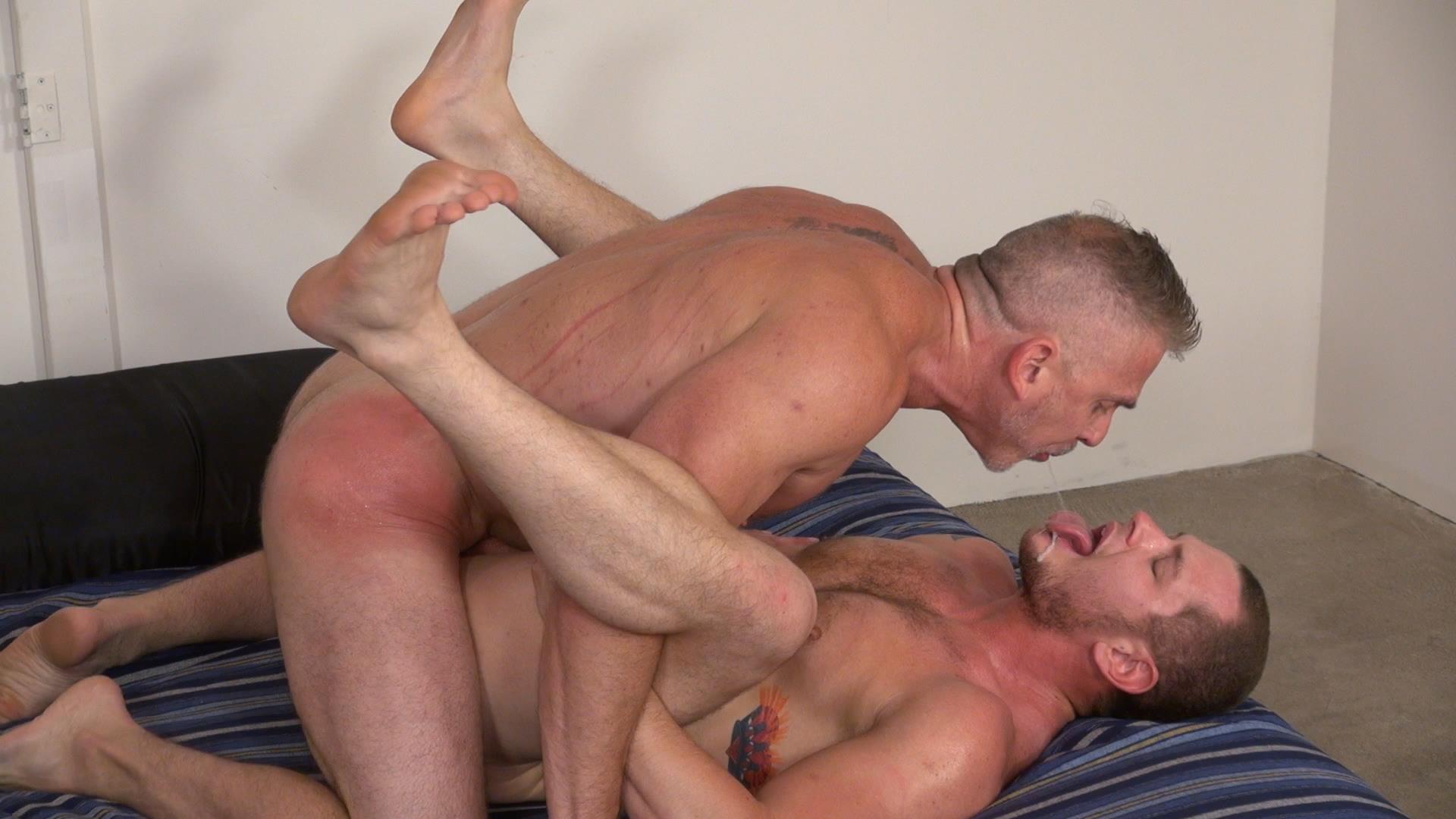 Raw and Rough Sam Dixon and Blue Bailey Daddy And Boy Flip Flip Bareback Fucking Amateur Gay Porn 06