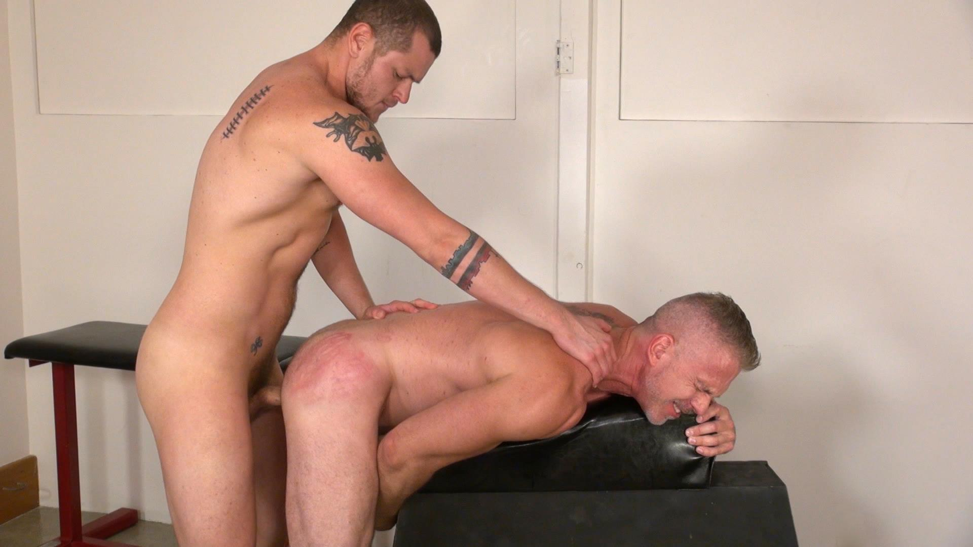 Raw and Rough Sam Dixon and Blue Bailey Daddy And Boy Flip Flip Bareback Fucking Amateur Gay Porn 10