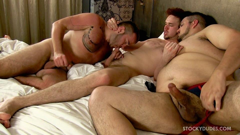 Stocky Dudes Brock Fulton and Craig Cruz and Zeke Johnson Chub Cub and Chaser Barebacking Amateur Gay Porn 22